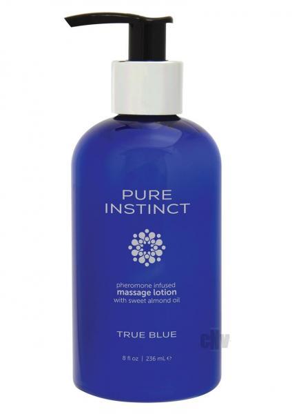 Pure Instinct Pheromone Massage Lotion True Blue 8oz