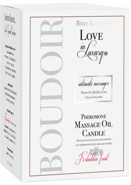 Love In Luxury Soy Massage Candle Forbidden Fruit 5.2oz