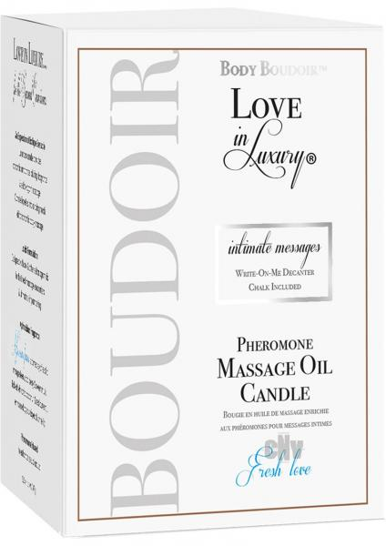 Love In Luxury Soy Massage Candle Fresh Love 5.2oz