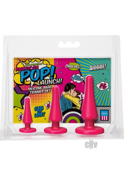 American POP!  Launch Anal Set Pink