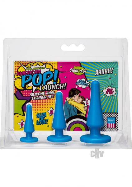 American POP!  Launch Anal Set Blue