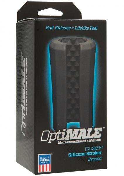 Optimale Silicone Beaded Stroker Black