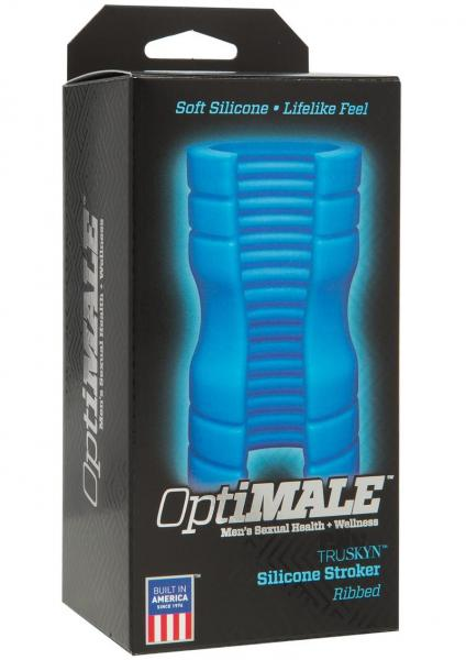 Optimale Truskyn Ribbed Stroker Blue