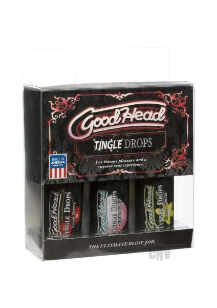 Goodhead Tingle Drops 3 Pack 1oz Vanilla, Cherry and Cotton Candy