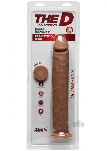 The D Realistic D 12 inches Caramel Tan Dildo