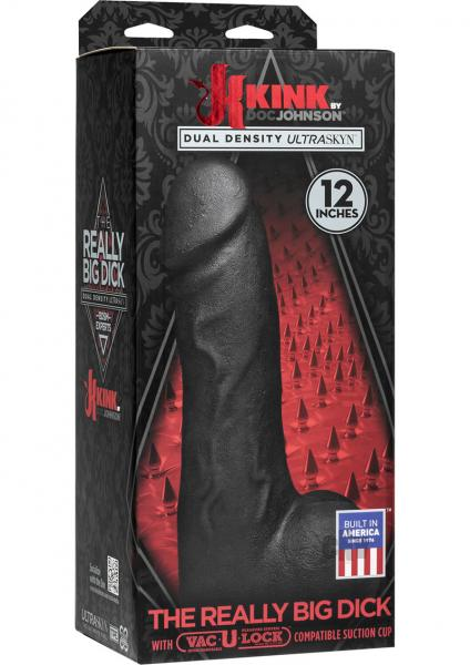 "Kink Really Big Dick 12"" - Black"