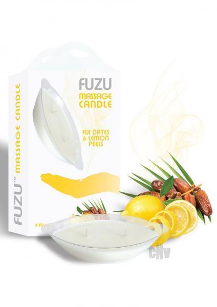Fuzu Massage Candle Fiji Dates & Lemon Peel 4oz
