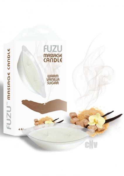Fuzu Massage Candle Warm Vanilla Sugar 4oz