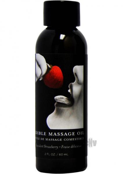 Edible Massage Oil Strawberry 2oz