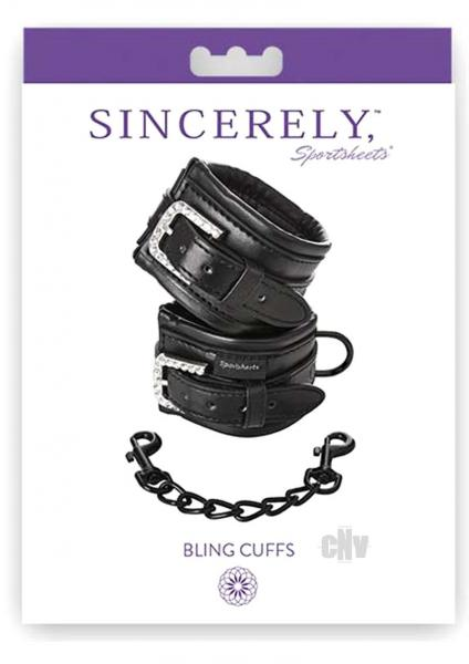 Sincerely Bling Cuffs Black