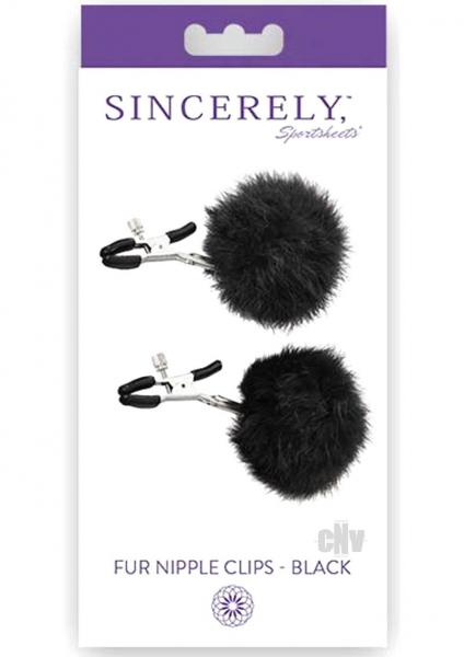 Sincerely Fur Nipple Clips Black