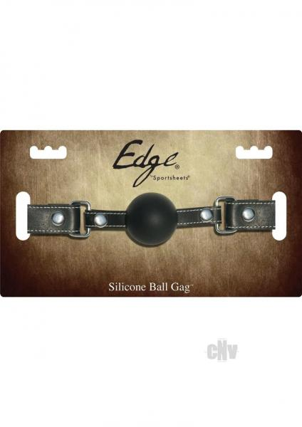 Edge Silicone Ball Gag Black O/S