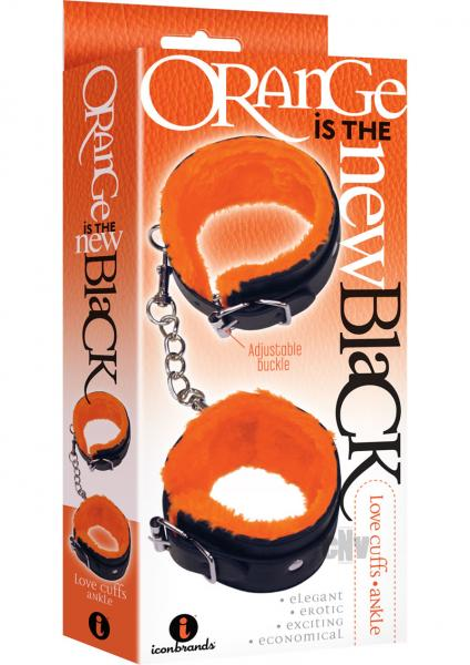 Love Cuffs Ankle Black Orange Lining