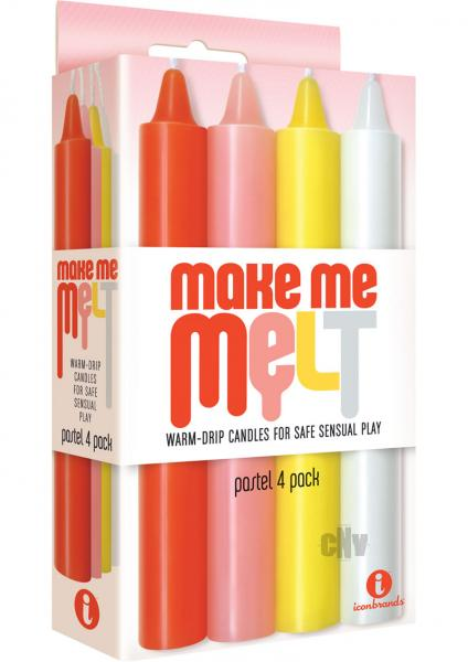 Make Me Melt Sensual Warm Drip Candles 4 Pack Pastel