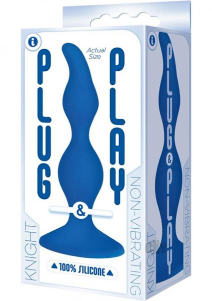 Plug And Play Silicone Knight Blue Anal Probe