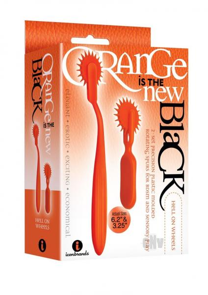 Hell On Wheels 2 Pieces Wartenberg Wheel Set Orange