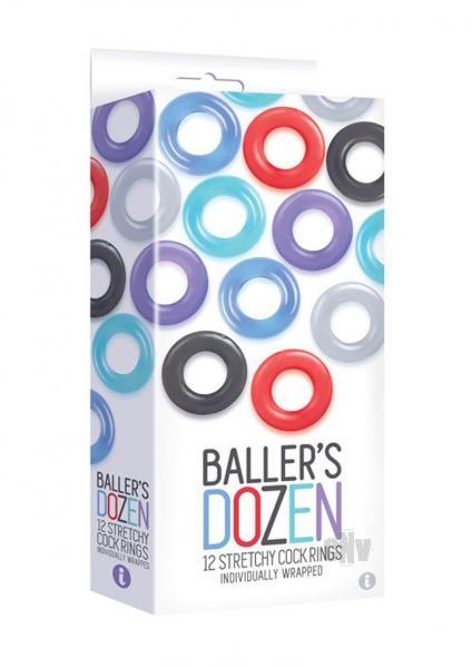 The Nines Baller's Dozen 12 Piece TPE Cock Ring Set