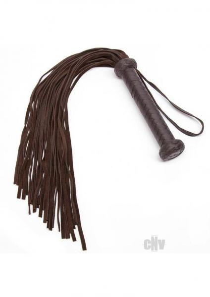 Coco de Mer Leather Flogger Brown