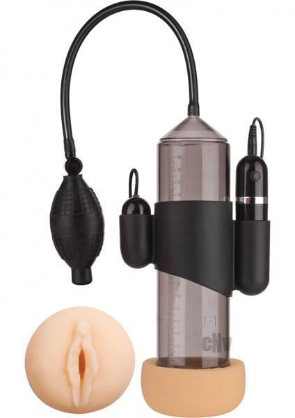 Supreme Vibrating Penis Pump Vagina Black