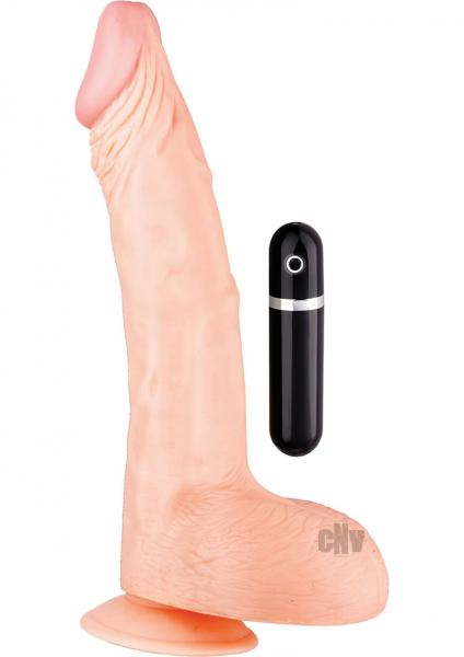 Maxx Men Vibe Curved Dong 11 inches Flesh