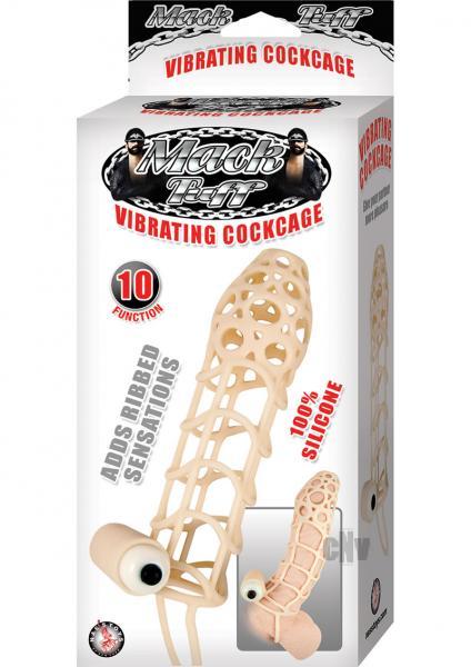Mack Tuff Vibrating Cock Cage Beige