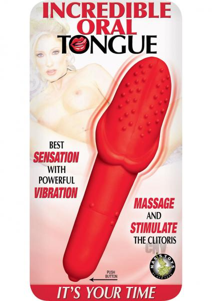 Incredible Oral Tongue Red Vibrator