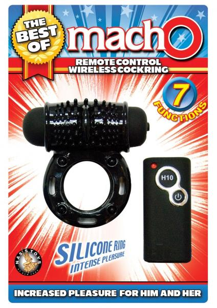 The Best Of Macho Remote Control Wireless Cockring Black