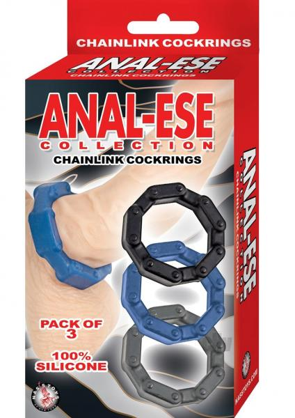 Anal-Ese Collection Chain Link Cock Rings