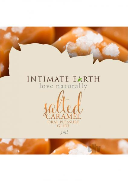 Intimate Earth Salted Caramel Flavored Glide .10oz Foil