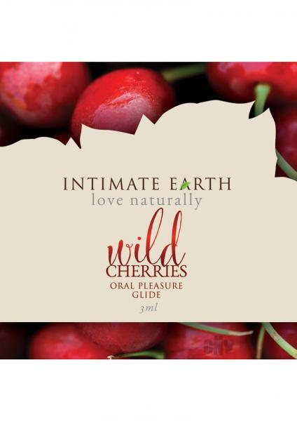Intimate Earth Wild Cherry Flavored Glide .10oz Foil
