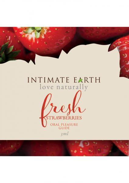 Intimate Earth Fresh Strawberry Flavored Glide .1oz