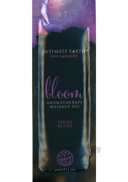 Intimate Earth Bloom Massage Oil Foil  Sachet 1oz