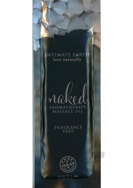 Intimate Earth Naked Massage Oil Foil Sachet 1oz