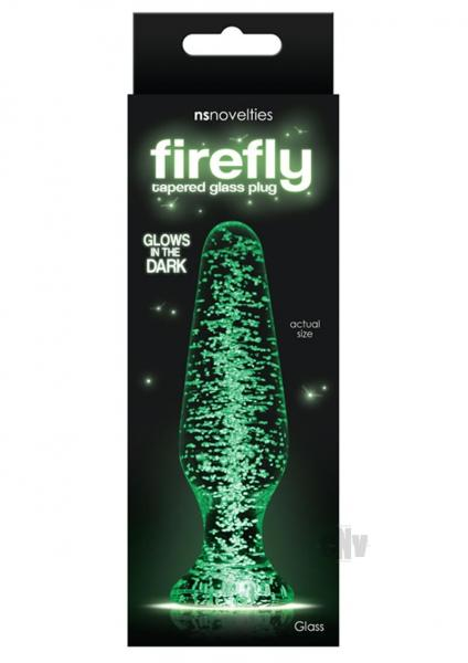 Firefly Clear Glass Plug Tapered Glow in the Dark