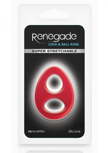 Renegade Romeo Soft Cock & Ball Ring Red