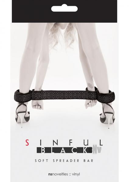 Sinful Soft Spreader Bar Black