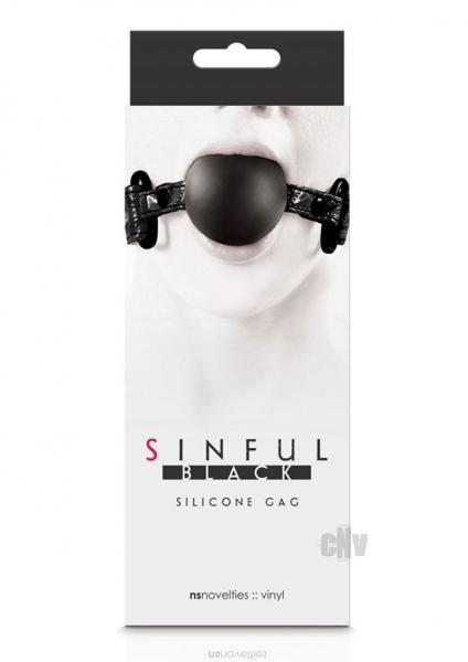 Sinful Soft Silicone Gag O/S Black