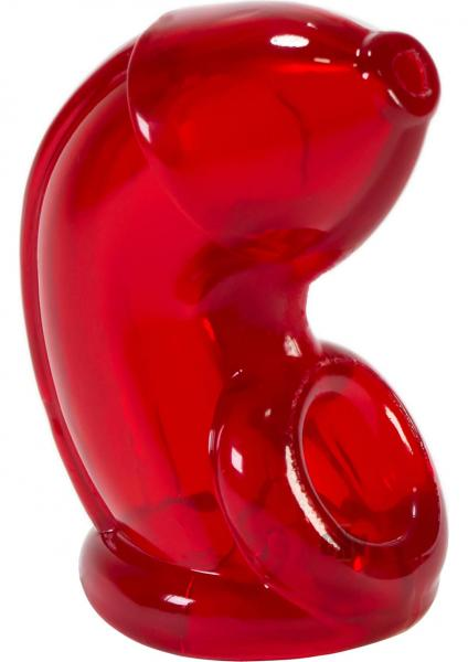 Cock Lock Chastity Clear Red