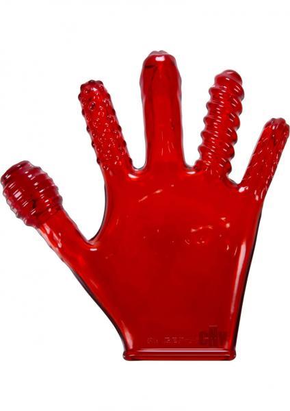 Finger F*ck Glove Red