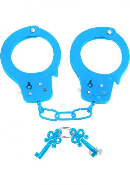 Neon Fun Cuffs Blue Handcuffs