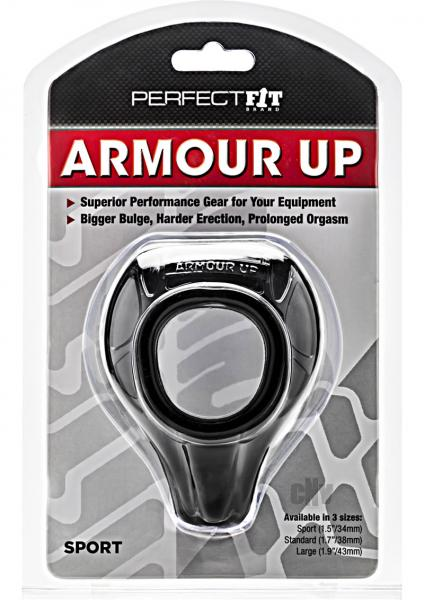 Perfetc Fit Armour Up Cock Ring Black