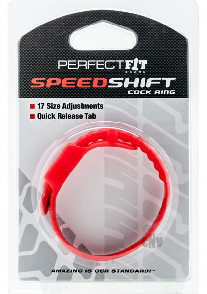 Speed Shift Red Adjustable Cock Ring Red