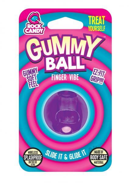 Rock Candy Gummy Ball Blister Purple Finger Vibrator