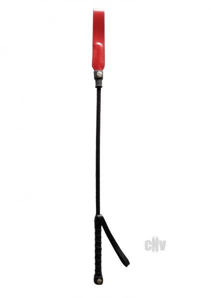 Rouge Short Riding Crop Slim Tip 20 inches Red