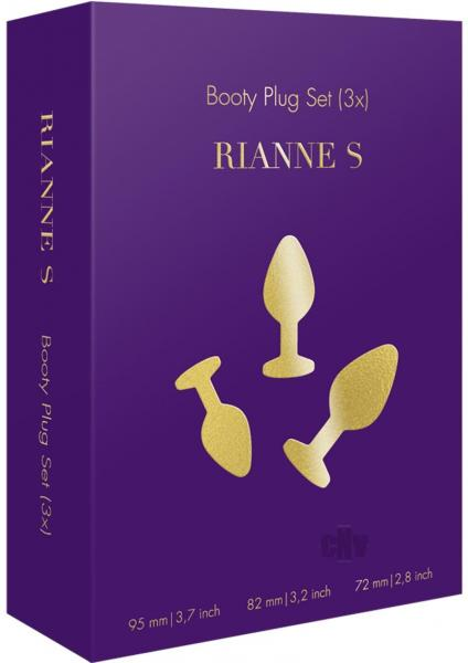 Rianne S Booty Plug Set 3X Purple