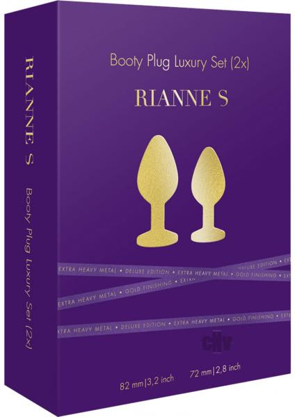 Rianne S Booty Plug Set 2X Metal Gold