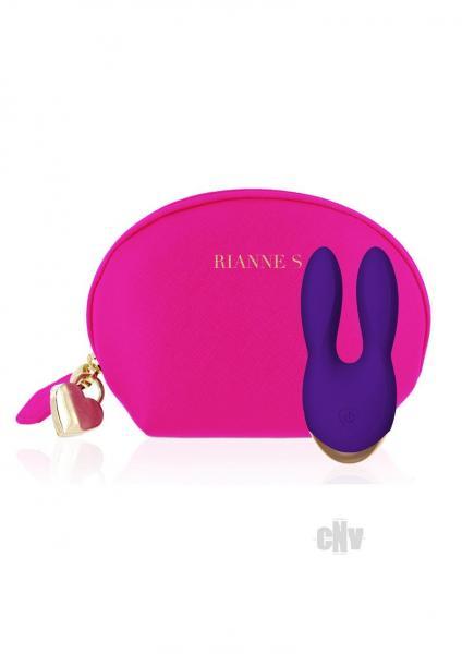 Rianne S Bunny Bliss Mini Clitoral Vibrator Deep Purple