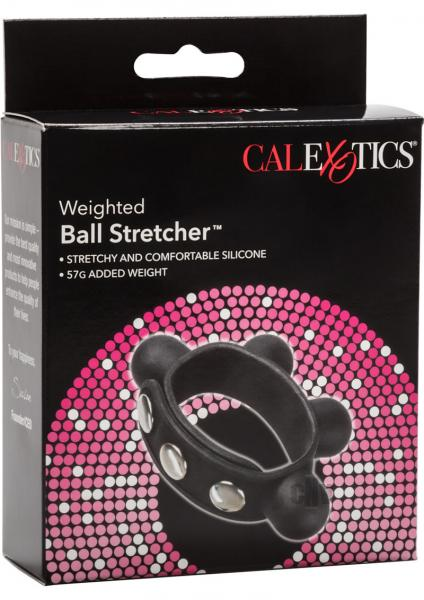 Weighted Ball Stretcher Silicone Black