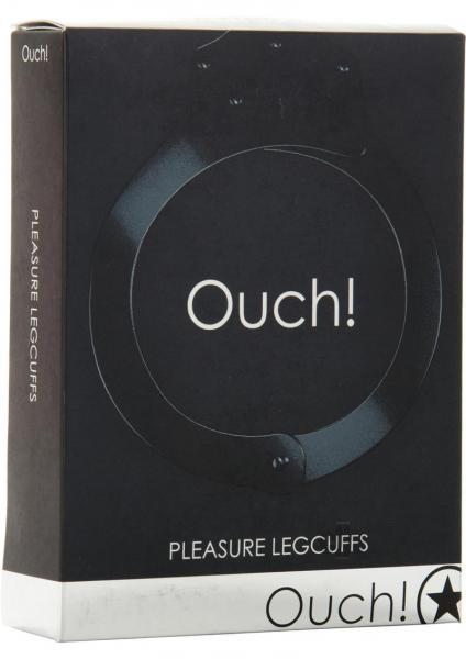 Ouch Pleasure Legcuffs Metal Black