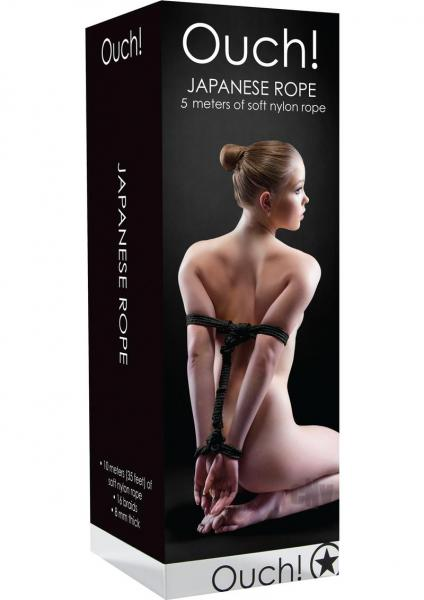 Ouch Japanese Rope 5m Black